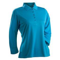 Nancy Lopez Luster Golf Top - Women's, Size: Large, Blue