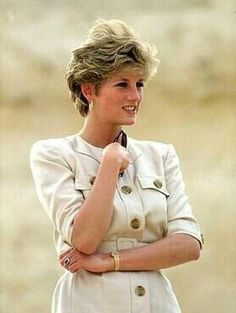 May 12, 1992: HRH Diana, Princess of Wales on an official visit to Karnak, Egypt, Valley of the Kings.
