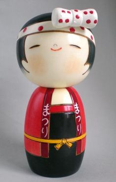 Kokeshi 'Festival girl' -------- #japan #japanese #kokeshi