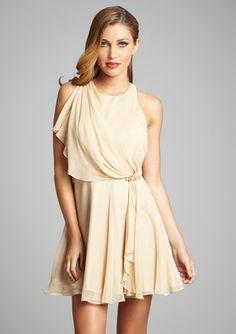 Rehersal dinner dress. :-) HOAGLUND NEW YORK Drape Front Chiffon Dress