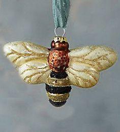 Glass ornament #bee.
