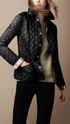 A close friend gave me this! Burberry Brit Cropped Quilted Jacket...