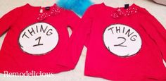 The Making Of Thing 1 & Thing 2 | remodelicious | girly DIY versions of the costumes with tutus