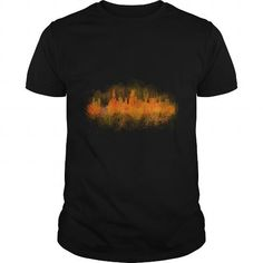 I Love Chicago Illinois Skyline in watercolor digital art V3 america patriot USA t shirt Shirts & Tees