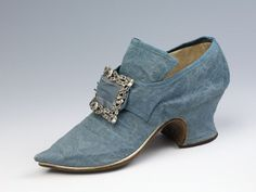 1740s British Shoe (one of two) at the Victoria and Albert Museum, London