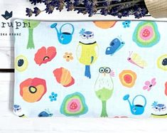 Lovely treat for yourself or a gift for someone you love - handmade lavender pouch filled with organic lavender from France. Made of own designed fabrics printed by Spoonflower #lavender #pouch #sachet #cushion #gift #merupri #handmade #eco #organic #cotton Nature Illustration, Cute Illustration, Happy Art, Surface Design, Spoonflower, Printing On Fabric, Organic Cotton, Lavender, Cushion