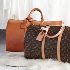 The best way to travel? With Louis Vuitton luggage.