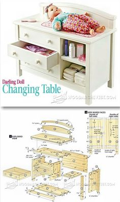 Doll Changing Table Plans - Children's Wooden Toy Plans and Projects | WoodArchivist.com