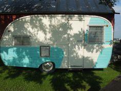 Vintage 1957 Kencraft camper Trailer Barn Fresh Shasta Forester Canned Ham | eBay