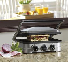Cuisinart 5-in-1 Griddler and Panini Press Stainless Steel