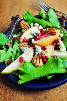 Apple Pear Salad with Pomegranate Vinaigrette - Add a Pinch