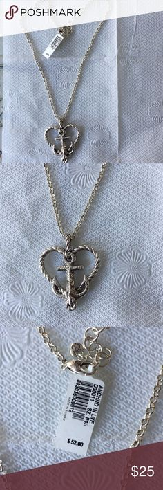 Brighton necklace Brighton heart with anchor necklace. Brand new. Great for spring & summer Brighton Jewelry Necklaces