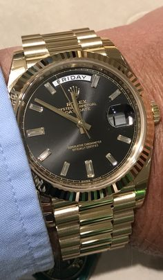 bbe74ca26ed My other favourite watch  The yellow gold DayDate 40 with black dial.  Without the