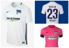 Hertha Berlin 2016/17 Nike Away and Third Jerseys