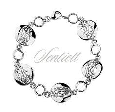 Srebrna bransoletka pr.925 ażurowe, okrągłe elementy - Biżuteria srebrna dla każdego tania w sklepie internetowym Rejel