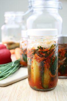 Quick & Easy Cucumber Kimchi | cHowDivine.com {crunchy, delicious, and rich in probiotics!}