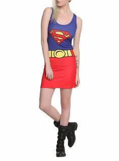 29 One Item Cosplays For The Incurably Lazy Superman Dress, Supergirl Superman, Superman Costumes, Geek Fashion, Fashion Looks, Fashion Outfits, Cute Costumes, Halloween Costumes, Halloween Makeup