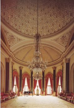 Buckingham Palace Music Room by Jean-Pierre-Montauban, via Flickr