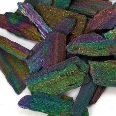 Rainbow Hematite Medium Jewelry Supply Natural by LittleCrowGems, $2.00