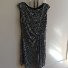 Anne Taylor faux wrap dress In excellent condition.  Worn only twice.  Great jersey fabric, very flattering Ann Taylor Dresses