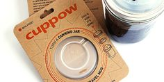 Cuppow - It turns a canning jar into a travel cup. Cool