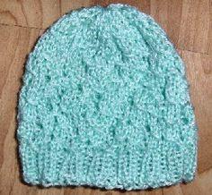 Sandra Huffines lacy hat (sm premie, lg premie, newborn)