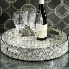 I pinned this Faux Snakeskin Tray from the Zodax event at Joss and Main!