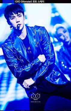 Sehun - 160627 SBS Inkigayo website update Credit: SBS. (SBS 인기가요)