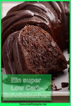 A super low carb chocolate cake - Low Carb Backen - Filling Low Calorie Meals, Low Calorie Meal Plans, Healthy Low Calorie Meals, Low Carb Desserts, Low Calorie Recipes, Healthy Dessert Recipes, Easy Desserts, Jello Recipes, Flour Recipes
