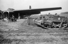 A Universal carrier unloaded from a Hamilcar glider during