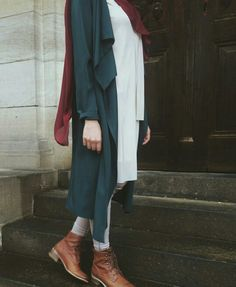 PINTEREST TASNEEM HEMA Hijab Fashion 2017, Street Hijab Fashion, Abaya Fashion, Muslim Fashion, Modest Fashion, Fashion Outfits, Fashion Fashion, Casual Hijab Outfit, Casual Outfits