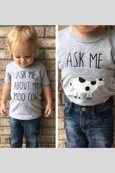 Ask Me About My Moo Cow Shirt- Funny Kids T-Shirt- Moo Cow Funny Tee- Funny Toddler Shirt- Cow Shirt- Surprise Tee- Toddler Tee | etsy | #ad