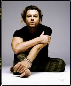 Michael Hutchence - INXS  What a voice this man had. Gone too soon.