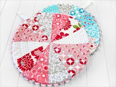 Patchwork Trivets with Circular Quilting | Sew4Home