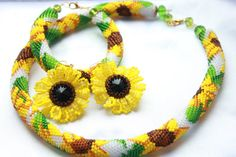 Hey, I found this really awesome Etsy listing at https://www.etsy.com/listing/273661926/sunflower-earrings-necklace-bracelet-set