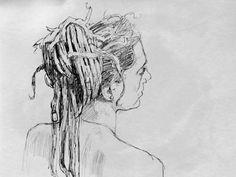 Robert Elliott  -Dreadlocks - pencil