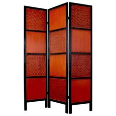 FREE SHIPPING! Shop Wayfair for Oriental Furniture 72 x 54 Tainan 3 Panel Room Divider - Great Deals on all Furniture products with the best selection to choose from!