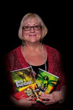 Author , Flossie Benton Rogers, holding several of her Wytchfae Series novels Friend Book, Childrens Books, Novels, Authors, Writers, Spotlight, Rave, Posts, Club