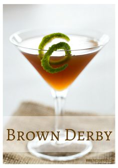 Brown Derby - dark rum, lime juice and maple syrup! #drinks #cocktails   www.thedrinkkings.com  