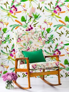 We are proud to have Louise Jones at our Designers Forum team - wallpapers for Rebel Walls, Fabrics from else where - equally pretty though:)   http://rebelwalls.com/designersforum/louise-jones/