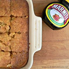 This Marvelous Marmite Cake is quick and delicious! It is the perfect mix of savoury and sweet and a must-bake for all Marmite lovers. Savoury Baking, Savoury Dishes, Savoury Cake, Baking Recipes, Veggie Recipes, Cake Recipes, Veggie Food, Dessert Recipes, Marmite Recipes