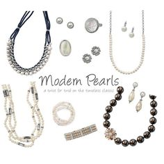 """Not your momma's pearls.  These have a """"twist"""" for the modernista in you."""