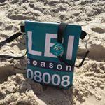 "@beachdiva on Instagram: ""Vinyl Beach Cross Body Bags Long Beach Island Beach Haven #craftshow #display #LBI #longbeachisland #lbiismyhappyplace #crossbodybag #nauticalbag #nautical #beachhaven #beach #beachbag"""