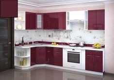 Korpus je z lamina vo farbe wenge s 3D štruktúrou dreva. Hrany sú opatrené ABS. Dvierka sú vyrobené z kvalitnej MDF dosky vo farbe burgund lesk. Kovové úchytky. Valencia, Interior Decorating, Kitchen Cabinets, Home Decor, Interior Design Kitchen, Decoration Home, Room Decor, Cabinets, Decor