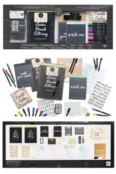 Das ultimative Set für Handlettering-Fans. Mit 120 Teilen ideal für den kreativen Start. Jetzt online versandkostenfrei bestellen. Diy Things, Brush Lettering, Diy Crafts, Inspirational, Draw, Writing, How To Make, Design, Tekenen