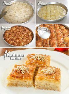 Sütlü Nuriye Tarifi Mini Desserts, Easy Desserts, Food Cakes, Easy Cake Recipes, Turkish Recipes, Family Meals, Bakery, Deserts, Easy Meals