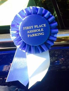 Reward others for their stupidity or for performing the most menial of tasks by giving them a customized message ribbon. This satin ribbon features a lovely pleated rosette border and allows you to get creative with a variety of colors and styles. Funny Cute, The Funny, Hilarious, Funny Pics, Dry Humor, Adult Fun, Clever Quotes, Blue Ribbon, I Laughed