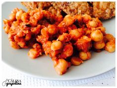 Garnitură de năut // Chickpeas side dish Chickpeas, Chana Masala, Shrimp, Side Dishes, Lunch, Meat, Ethnic Recipes, Food, Beef