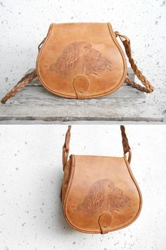 Vintage Tan Leather Bag // Handmade Bag // by VindicoShop on Etsy, $70.00