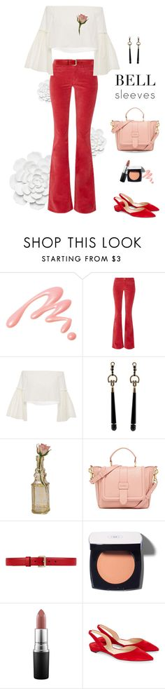 """""""bell sleeves"""" by shoelover220 ❤ liked on Polyvore featuring Chantecaille, M.i.h Jeans, Rosetta Getty, Gucci, Cultural Intrigue, Chanel, MAC Cosmetics, Paul Andrew and bellsleeves"""